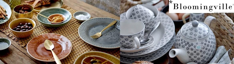 Retrouvez les assiettes creuses Bloomingville et leurs motifs danois