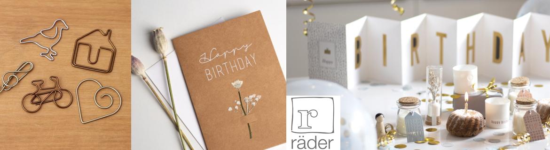 Acheter des fournitures de bureau et des cartes postales Rader