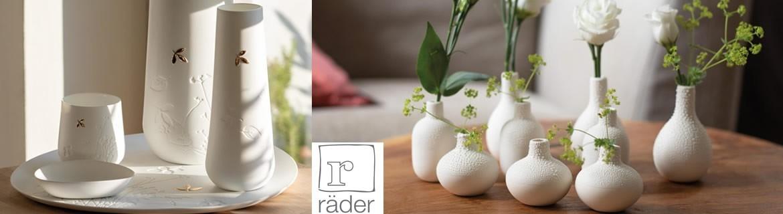 Acheter des vases, coupelles en porcelaine et autres décorations Rader