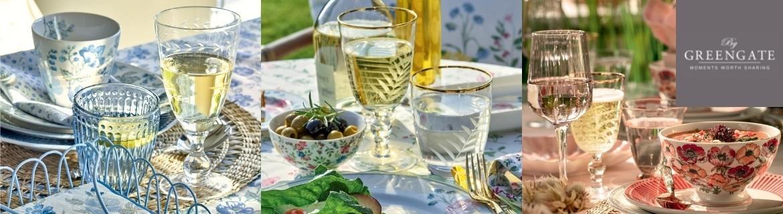 Acheter des verres Greengate aux motifs floraux chez Eglantine