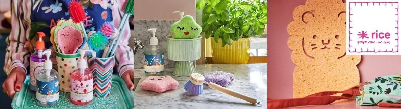 Acheter des articles de nettoyage colorés fantaisie et originaux Rice